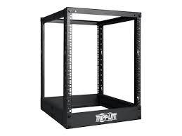 amazon com tripp lite 25u 4 post open frame rack network amazon com tripp lite 25u 4 post open frame rack network equipment rack 1000 lb capacity sr4post25 electronics