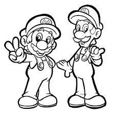 Mario And Luigi Coloring Pages For