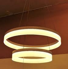 led ring chandelier