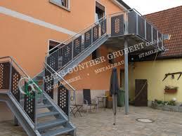 Metalltreppen für ihren balkon oder terrasse aus verzinktem stahl. Treppen Metallbau Hans Gunther Grubert Gmbh Bamberg Hallstadt
