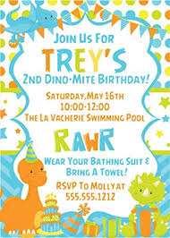Dinosaur Birthday Invitation Amazon Com Baby Dinosaur Birthday Party Invitations Handmade