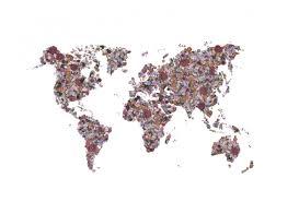 Wereldkaart Behang Voor Je Muren Diverse Kleuren Wereldkaarten
