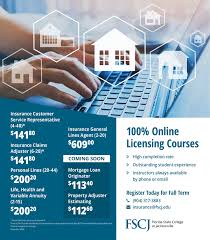 Course is designed and taught in compliance with the state of florida. Florida State College At Jacksonville Take Your Career To The Next Level By Gaining Important Skills And Certification In The Insurance Industry Will You Be The Next Personal Lines Insurance Agent
