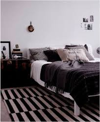scandi bedroom with stockholm rug