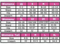 12 Best Size Chart Images Chart Size Chart Measurement Chart