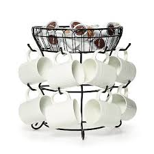 Tea Cup Display Stand Cool MUG TREE RACK Coffee Tea Cup Holder Stand Hold Organizer Storage