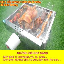 Bếp nướng than hoa TopV V5S, quay tự động, dùng sạc dự phòng, lò quay vịt, lò  nướng, lò nướng than: Siêu đa năng, thơm ngon, chín đều, an toàn sức khỏe,