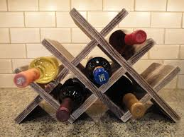 Wine Rack Table Top 8 Bottles Wood Wine by RusticCreekWoodProd, $34.95