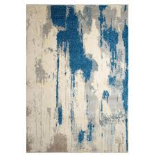 off white area rug. Renwil Alberto Off White/Blue 5 Ft. 2 In. X 7 White Area Rug C