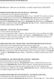 Dictionnaire Des Vins Pdf Pdf