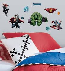 Marvel Bedroom Accessories Amazoncom Marvel Comics The Avengers Assemble Wall Decals 18