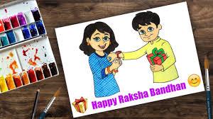 Chart On Raksha Bandhan How To Draw Raksha Bandhan For Beginners Step By Step