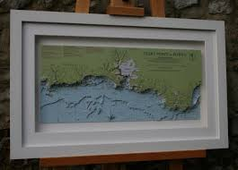 Framed Nautical Charts