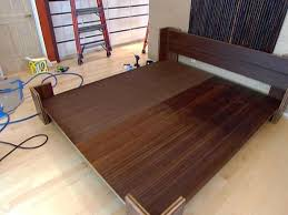 diy king platform bed frame. Wooden King Bed Frame Plans DIY Blueprints This Pottery Barn Inspired And Headboard By Kristen At Lipstick Because When It Diy Platform
