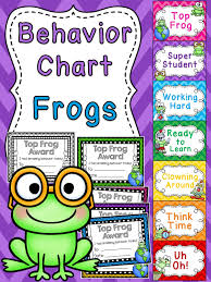 Frog Behavior Clip Chart Frogs Theme Behavior Clip Chart Frog Theme Classroom