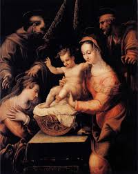 murphy mentions a few holy family paintings by lavinia fontana which were probably bought for married one being the virgin adoring the sleeping
