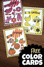 Place a pocket chart in your writing center, and place the cards in the pocket chart. Free Printable Color Flashcards