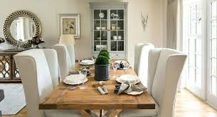 dining room arm chairs upholstered farmhouse with beige curtains wing image