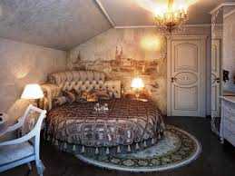 choosing chandeliers in bedrooms classic bedroom design with round bed frame and cozy blanket also