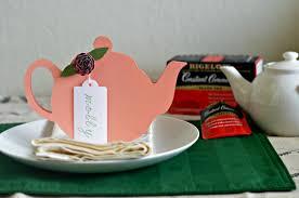 Tea Party Theme Ideas Tea Pot Place Card Printable