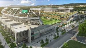 A Topping Off Ceremony At Colorado State Football Stadium