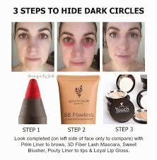 hide dark circles the younique way