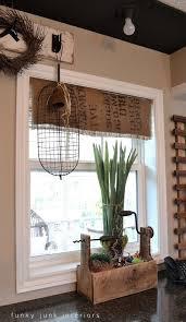 DIY Burlap Roman Shades From Blinds  Blessu0027er HouseBurlap Window Blinds