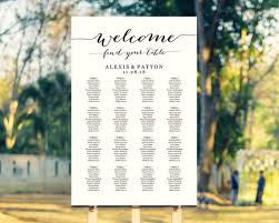 Wedding Seating Chart Template Welcome Find Your Table