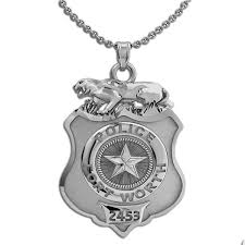 personalized fort worth police badge with your number