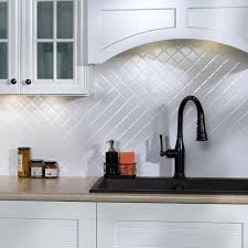 backsplash panel quilted gloss white in x in panel backsplash wall panels for kitchen