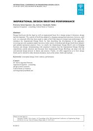 Engineering Design Brief Pdf Inspirational Design Briefing Performance