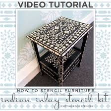 cutting edge furniture. learn how to stencil furniture using the indian inlay kit http cutting edge