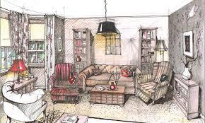 14 Interior Design Drawings Perspective hobbylobbysinfo