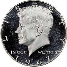 1967 Kennedy Half Dollar Value Chart 1967 Sms 50c Ms Kennedy Half Dollars Ngc