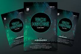 Free Flyer Template Download Tech House Psd Free Flyer Template Free Psd Flyer
