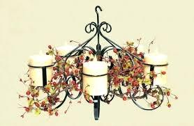 flameless candle chandelier rectangle rectangular wood led