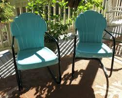 metal vintage chairs patio mesmerizing black porch striking outdoor furniture image design enchanting light blue square