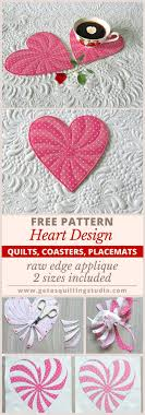 805 best Needle and Thread images on Pinterest & Free Heart Quilt Pattern, raw edge applique, 2 sizes. Adamdwight.com