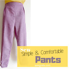 Make Pants Make Easy Comfortable Straight Pants Sewing Pattern