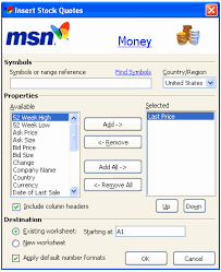 Msn Stock Quotes Extraordinary Msn Stock Quotes Interesting Msn Stock Quotes Cool Excel Stock