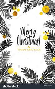 Black Gold Merry Christmas Card Golden Stock Vector Royalty Free