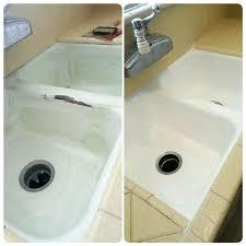 excellent reglaze bathroom sink your kitchen sink damaged makes it look like new cost to reglaze bathroom sink
