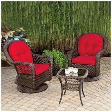 wilson and fisher charleston resin wicker 3 piece swivel glider set wilson fisher patio furniture