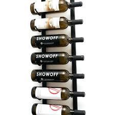 wall mounted metal wine rack harbour housewares 5 bottle black 4 long stem glass holder cork
