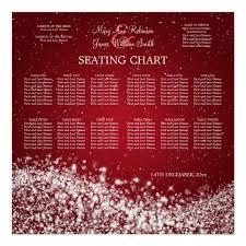 Wave Seating Chart Elegant Wedding Seating Chart Sparkling Wave Red