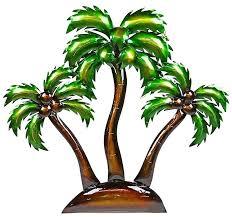 luxuriant palm tree oasis metal wall ideas beauteous