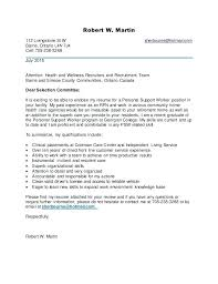 Sample Cover Letter For Psw Resume Example Cover Letter Examples