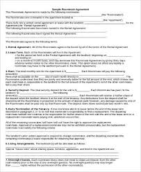 Free Simple Lease Agreement Form New 48 Roommate Lease Agreement Samples Sample Templates