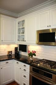 beveled subway tile backsplash edge white beveled subway tile backsplash