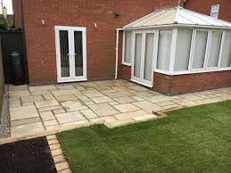 complete garden make over new patio area oak sleeper retaining wall pergola james landscaping contracts